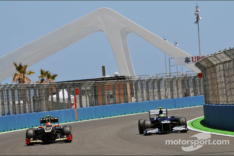 Romain Grosjean, Lotus F1 en Bruno Senna, Williams