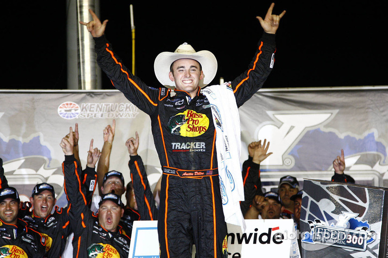 Victory lane: race winner Austin Dillon celebrates
