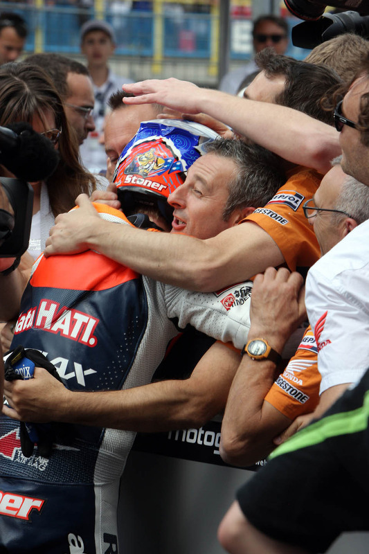 Race winnaar Casey Stoner, Repsol Honda Team