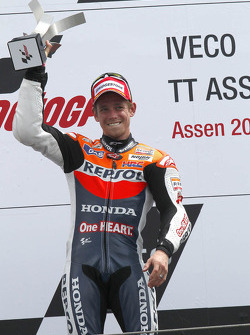 Podium: race winner  Casey Stoner, Repsol Honda Team