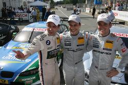 Polesitter Gary Paffett, Team HWA AMG Mercedes, AMG Mercedes C-Coupe, second place Jamie Green, Team HWA AMG Mercedes, AMG Mercedes C-Coupe, third place Augusto Farfus Jr., BMW Team RBM BMW M3 DTM