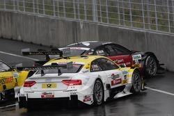 Edoardo Mortara, Audi Sport Team Rosberg Audi A5 DTM and Rahel Frey, Audi Sport Team Abt Audi A5 DTM