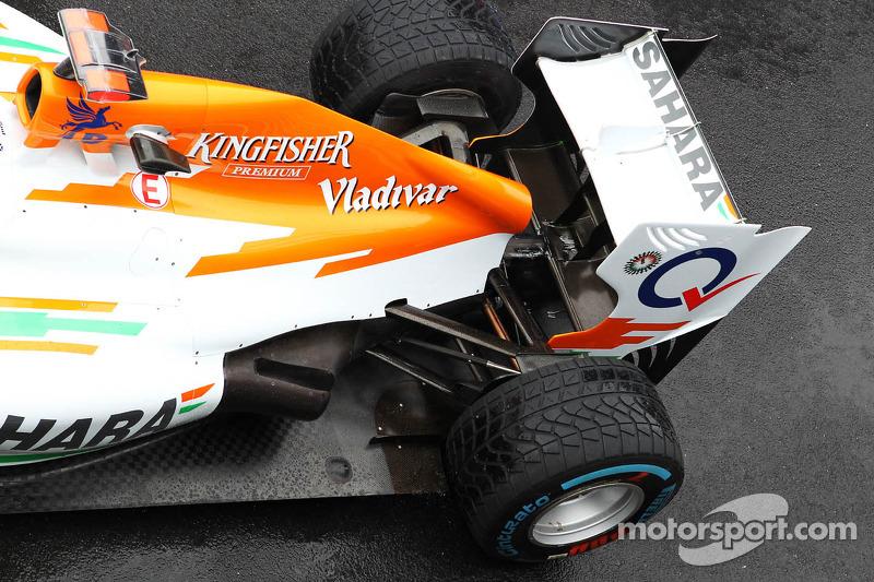 Sahara Force India F1 uitlaat