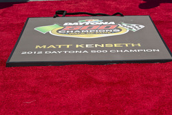 Matt Kenseth places his hand and footprints on the Walk of Fame