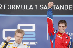 Podium: race winner Luiz Razia, second place Davide Valsecchi