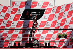 Podium: race winners Thomas Jäger, Nicky Pastorelli