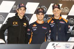 Dani Pedrosa, Casey Stoner y Marc Márquez