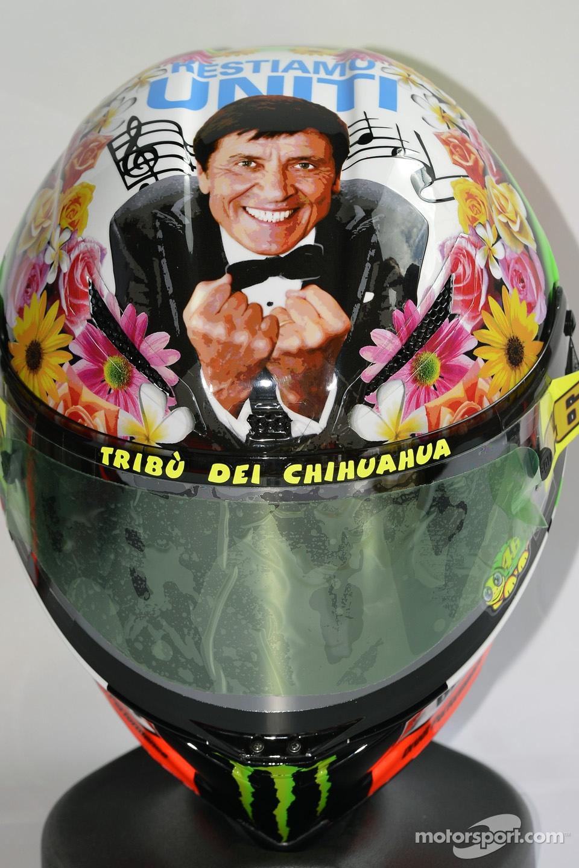Valentino Rossi's special helmet