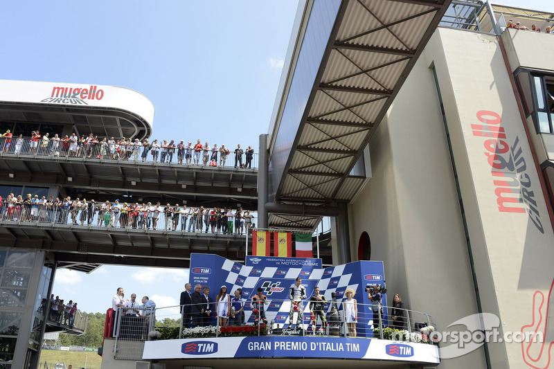 2012: 1. Jorge Lorenzo, 2. Dani Pedrosa, 3. Andrea Dovizioso