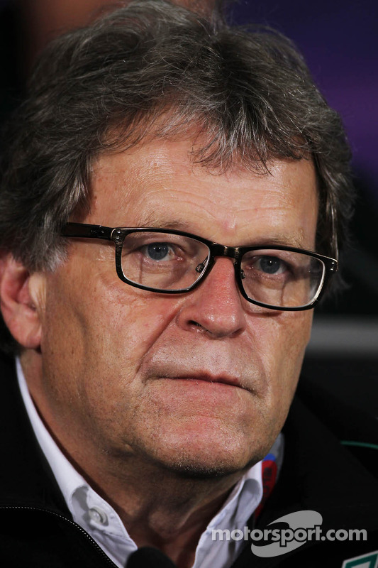 Norbert Haug, Mercedes Sporting Director in the FIA Press Conference