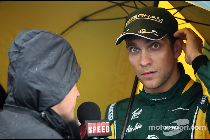 Will Buxton, Speed TV and Vitaly Petrov, Caterham F1 Team