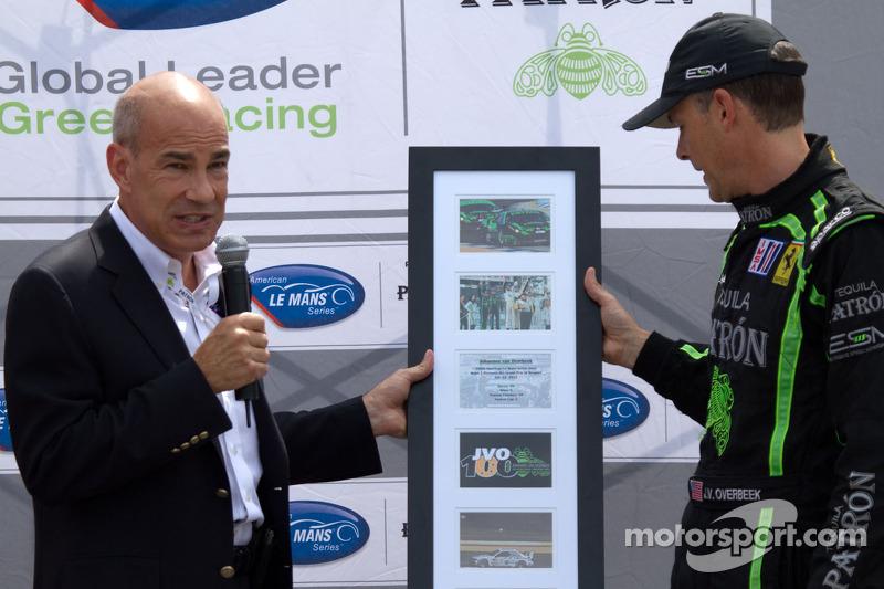 Johannes van Overbeek's 100ste American Le Mans Series start