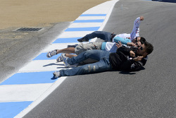 Michele Pirro, Honda Gresini and friends roll down the corkscrew