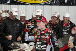 Victory lane: race winner Jeff Gordon, Hendrick Motorsports Chevrolet after rain cancellation