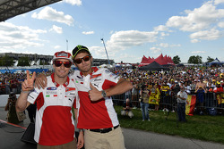 Nicky Hayden and Valentino Rossi, Ducati Marlboro Team