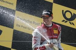 Podium, Edoardo Mortara, Audi Sport Team Rosberg Audi A5 DTM
