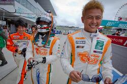 GT300 pole winners Hiroki Yoshida, Kazuki Hoshino and Hiroki Yoshimoto