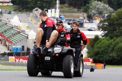 Charles Pic, Marussia F1 Team rides the circuit