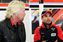 Sir Richard Branson, Virgin Group Owner with Timo Glock, Marussia F1 Team