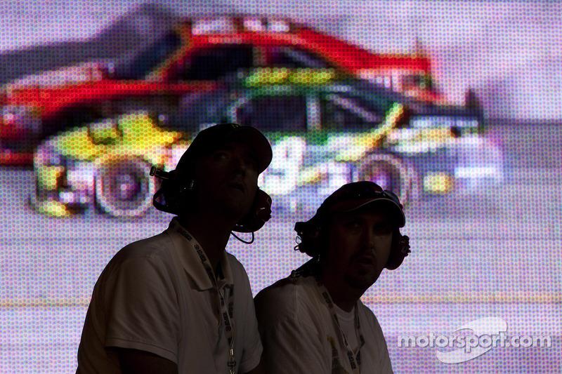 Fans bekijken de race