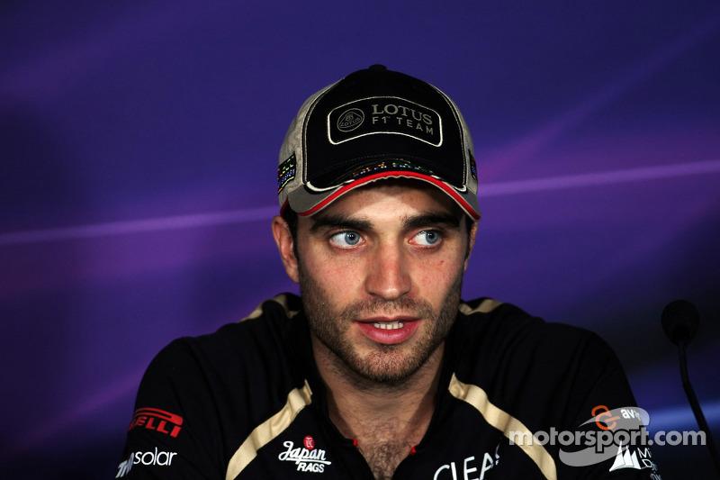 Jérôme d'Ambrosio, Lotus F1 Team in de FIA persconferentie