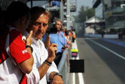 Luca di Montezemolo, Ferrari President with Stefano Domenicali, Ferrari General Director