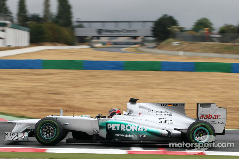 Brendon Hartley, Mercedes AMG F1 en los test de Magny Cours 2012