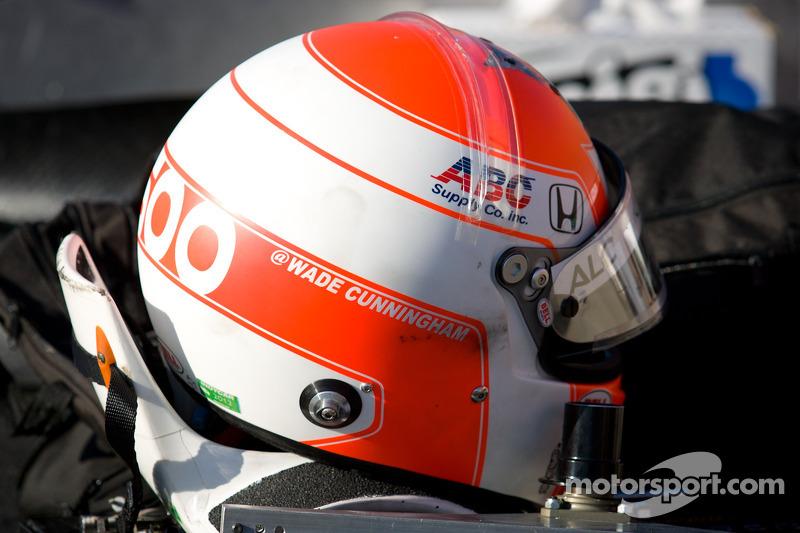Helm van Wade Cunningham, A.J. Foyt Racing Honda