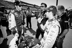 Ryan Hunter-Reay, Andretti Autosport Chevrolet and James Hinchcliffe, Andretti Autosport Chevrolet with Michael Andretti and Mario Andretti