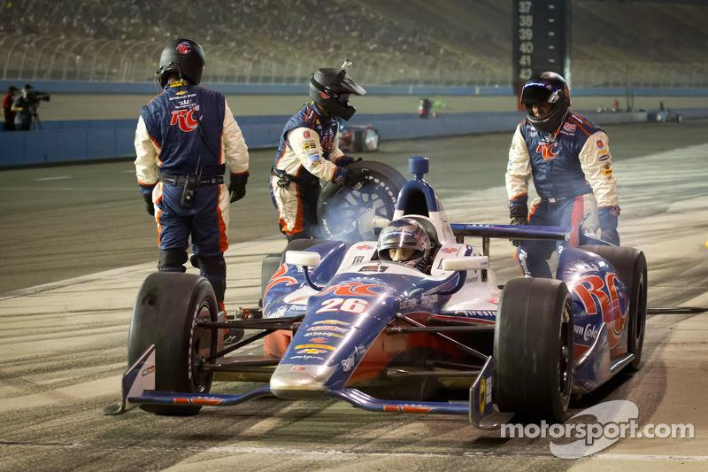 Pit stop for Marco Andretti, Andretti Autosport Chevrolet