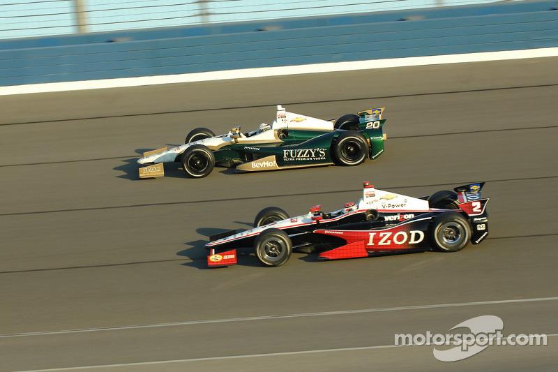 Ryan Briscoe, Team Penske Chevrolet en Ed Carpenter, Ed Carpenter Racing Chevrolet