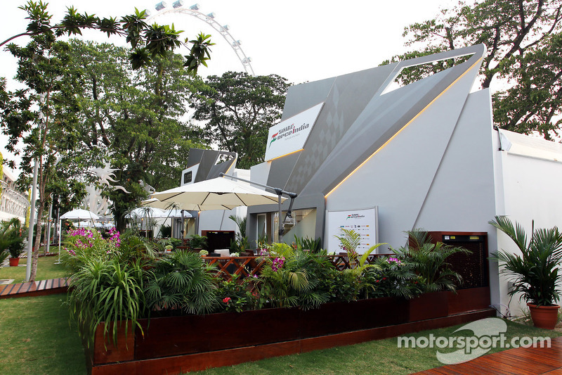 Sahara Force India F1 Team paddock