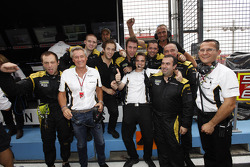 The Dams team celebrate winning the 2012 GP2 Series teams title