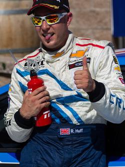 Robert Huff after winning race 2