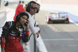 Audi race engineer Leena Gade and Benoit Tréluyer