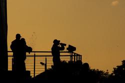 The sun sets on the podium festivities