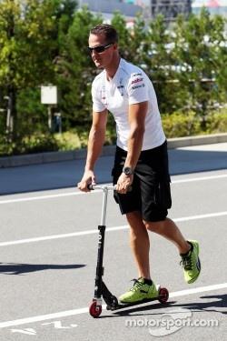 Michael Schumacher's transportation around the F1 paddock