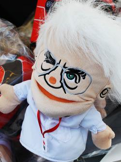 Bernie Ecclestone, CEO Formula One Group, hand puppet on sale