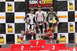 Podium: winner Sylvain Guintoli, second place Marco Melandri, third place Tom Sykes