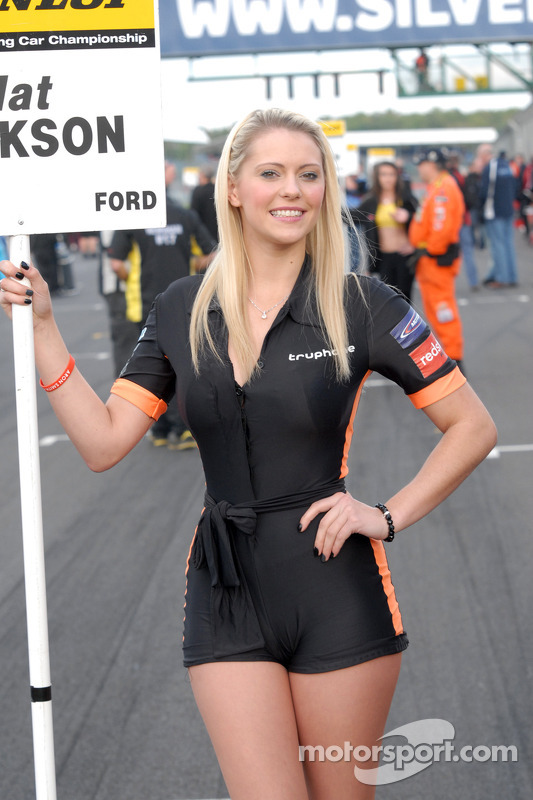 Redstone Racing Grid Girl At Silverstone