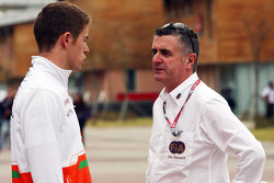 Paul di Resta, Sahara Force India F1 with Martin Donnelly, FIA Steward