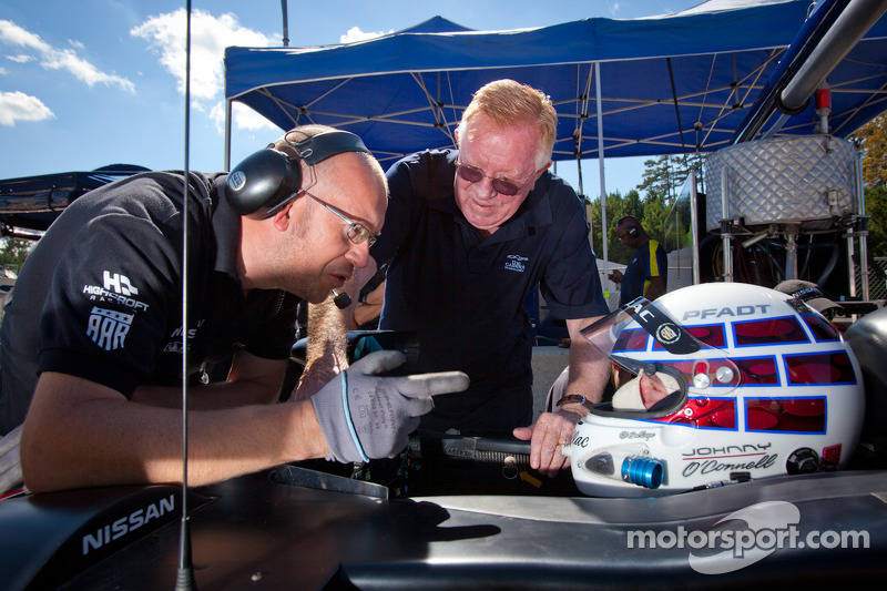 Johnny O'Connell test de #0 Nissan DeltaWing Project 56 Nissan met Don Panoz