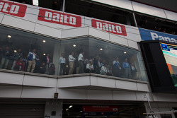Toyota suite watching a pitstop