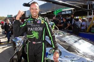 GT pole winner Guy Cosmo celebrates