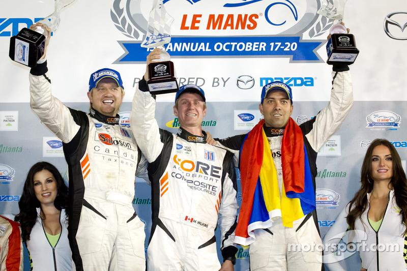PC podium: class winners Alex Popow, Ryan Dalziel, Mark Wilkins