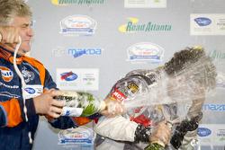 ELMS LMP podium: Jacques Nicolet and Mathias Beche