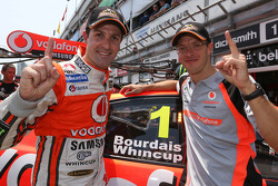 Pole winners Jamie Whincup and Sébastien Bourdais, Team Vodafone