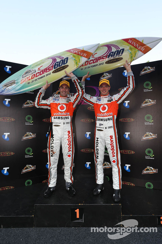 Winners Jamie Whincup and Sébastien Bourdais, Team Vodafone