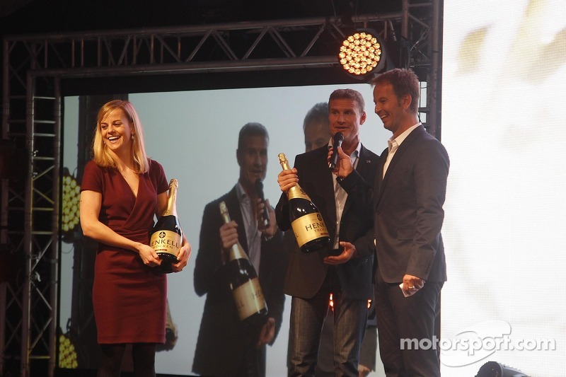 Good bye to Susie Wolff, Persson Motorsport, AMG Mercedes C-Coupe and David Coulthard, Mücke Motorsport, AMG Mercedes C-Coupe