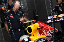 Adrian Newey, Red Bull Racing Chief Technical Officer with Sebastian Vettel, Red Bull Racing